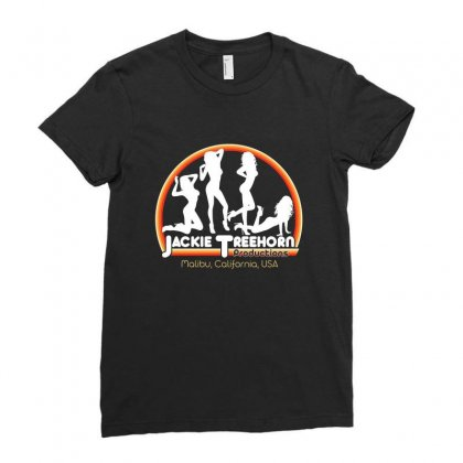 Jackie Treehorn Productions Ladies Fitted T-shirt Designed By Michelziud
