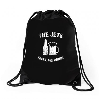 The Jets Make Me Drink T Shirt Drawstring Bags Designed By Hung