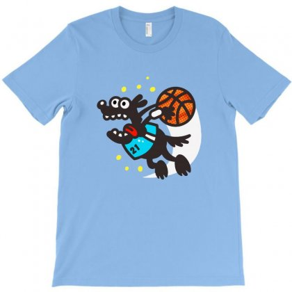 Basketball Dog T-shirt Designed By Bertaria