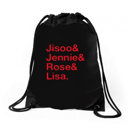Jisoo And Jennie And Rose And Lisa Drawstring Bags Designed By Alan