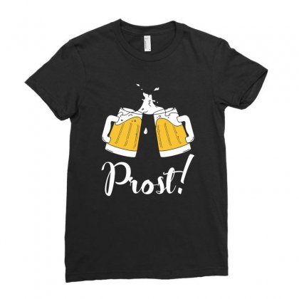Prost   Cheers T Shirt Ladies Fitted T-shirt Designed By Hung