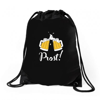 Prost   Cheers T Shirt Drawstring Bags Designed By Hung