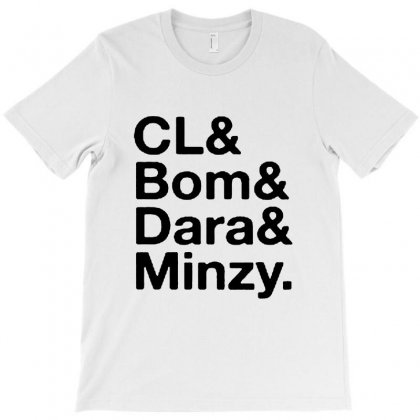 Cl And Bom And Dara And Minzy T-shirt Designed By Alan