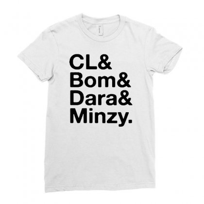 Cl And Bom And Dara And Minzy Ladies Fitted T-shirt Designed By Alan