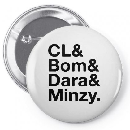 Cl And Bom And Dara And Minzy Pin-back Button Designed By Alan