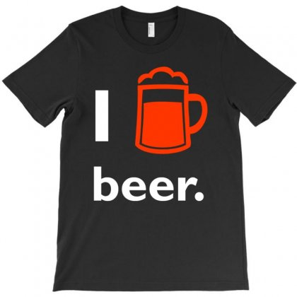 I Love Beer T Shirt T-shirt Designed By Hung