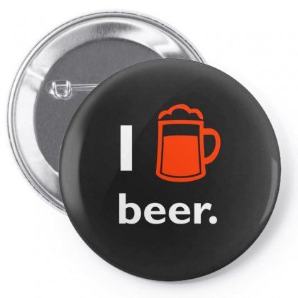 I Love Beer T Shirt Pin-back Button Designed By Hung