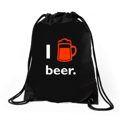 I Love Beer T Shirt Drawstring Bags Designed By Hung