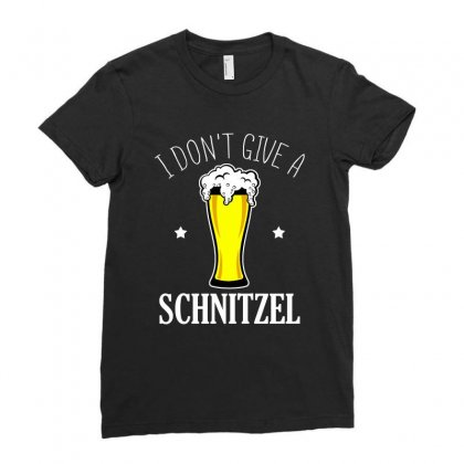 I Dont Give A Schnitzel T Shirt Ladies Fitted T-shirt Designed By Hung