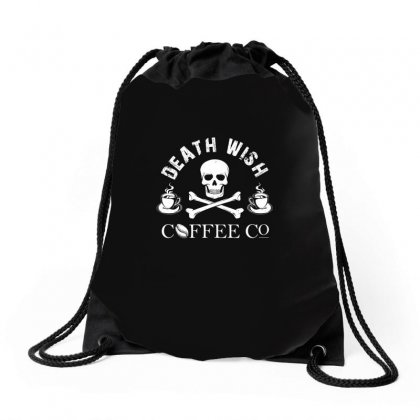 Death Wish T Shirt Drawstring Bags Designed By Hung