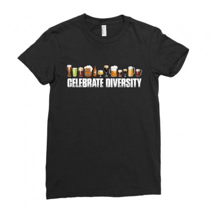 Celebrate Diversity   Beer T Shirt Ladies Fitted T-shirt Designed By Hung