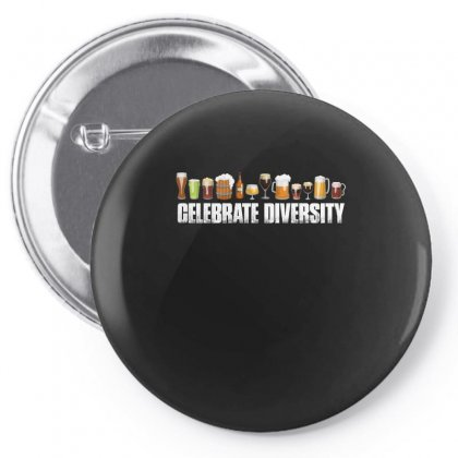 Celebrate Diversity   Beer T Shirt Pin-back Button Designed By Hung