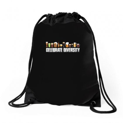 Celebrate Diversity   Beer T Shirt Drawstring Bags Designed By Hung