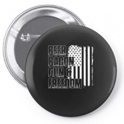 Beer Bacon Gun   Freedom T Shirt Pin-back Button Designed By Hung