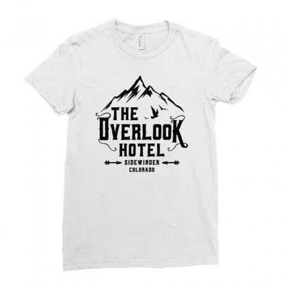 The Overlook Hotel Black Art Ladies Fitted T-shirt Designed By Meganphoebe