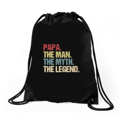 Papa The Legend Drawstring Bags Designed By Alan