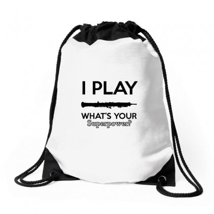 I Play Oboe What's Your Superpower Drawstring Bags Designed By Cogentprint