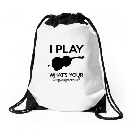 I Play Cello Drawstring Bags Designed By Cogentprint