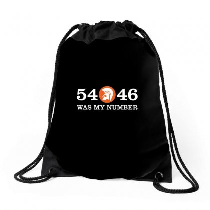 54   46 Was My Number Drawstring Bags Designed By Omer Acar