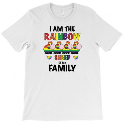 Funny Lgbt Shirt   Rainbow Sheep Of The Family T-shirt Designed By Omer Acar