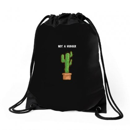 Funny Not A Hugger Cactus Drawstring Bags Designed By Omer Acar