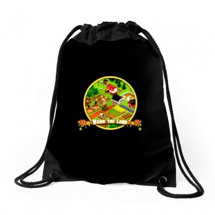 Work The Land Drawstring Bags Designed By Memei