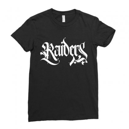 Raiders License Plate Ladies Fitted T-shirt Designed By Tiococacola