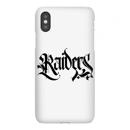 Raiders Blackletter License Plate Iphonex Case Designed By Tiococacola