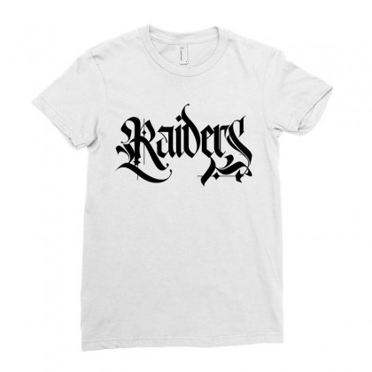 Raiders Blackletter License Plate Ladies Fitted T-shirt Designed By Tiococacola