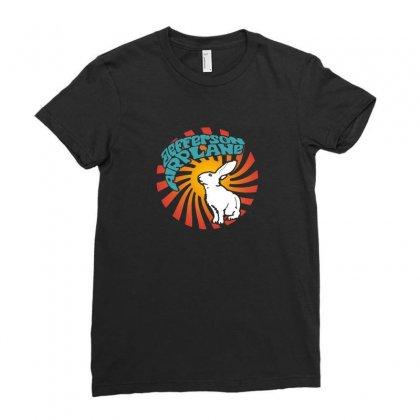 Jefferson Airplane White Rabbit Ladies Fitted T-shirt Designed By Funtee