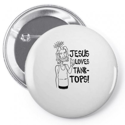 Jesus Loves Pin-back Button Designed By Funtee