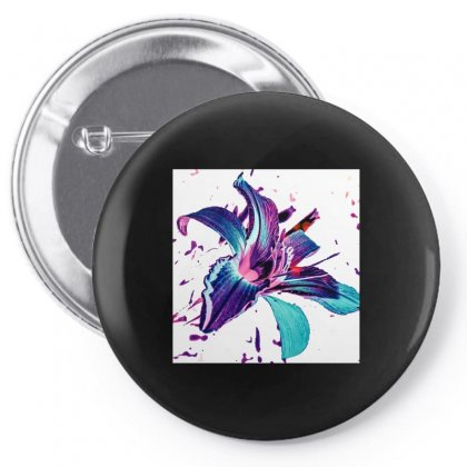 Blue Violet Pin-back Button Designed By Pabloo Picasoo