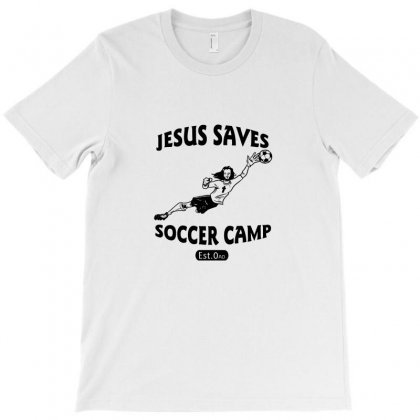 Jesus Saves Soccer Goalie Funny T-shirt Designed By Funtee
