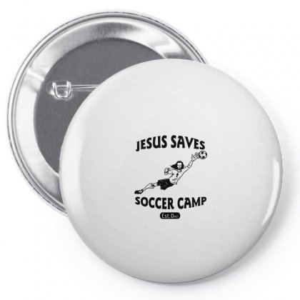 Jesus Saves Soccer Goalie Funny Pin-back Button Designed By Funtee