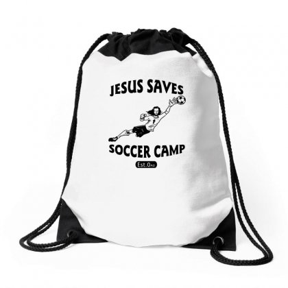 Jesus Saves Soccer Goalie Funny Drawstring Bags Designed By Funtee