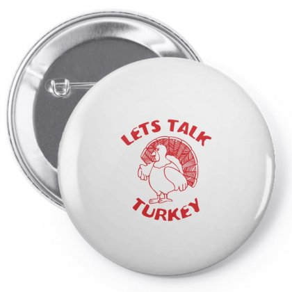 Let's Talk Turkey Pin-back Button Designed By Funtee