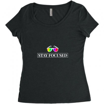Focused Women's Triblend Scoop T-shirt Designed By Willo