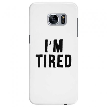 I'm Tired Black Samsung Galaxy S7 Edge Case Designed By Allison Serenity
