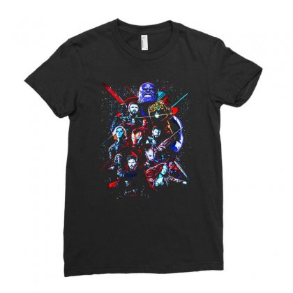 Avengers Ladies Fitted T-shirt Designed By Alan