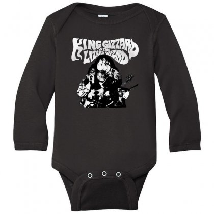 The King Gizzard Long Sleeve Baby Bodysuit Designed By Allison Serenity