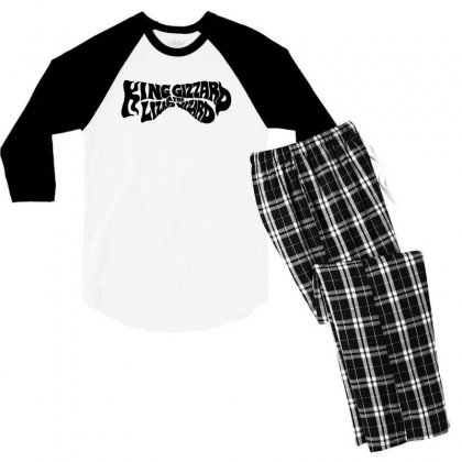 King Gizzard And The Lizard Wizard Men's 3/4 Sleeve Pajama Set Designed By Allison Serenity