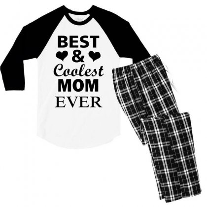 Best And Coolest Mom Ever Men's 3/4 Sleeve Pajama Set Designed By Alan