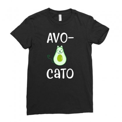 Avocato Cat Avocado Ladies Fitted T-shirt Designed By Alan
