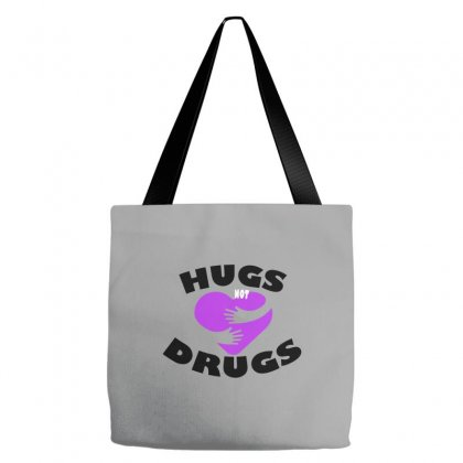 Hugs Not Drugs Tote Bags Designed By Alan