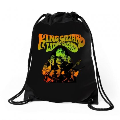 King Gizzard Drawstring Bags Designed By Allison Serenity