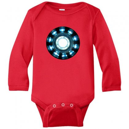 Arc Reactor   New Element Long Sleeve Baby Bodysuit Designed By Willo