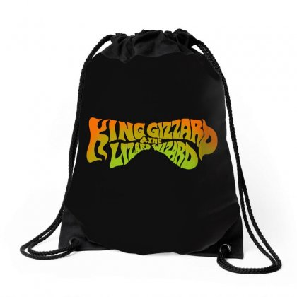 King Gizzard And The Lizard Wizard Drawstring Bags Designed By Allison Serenity