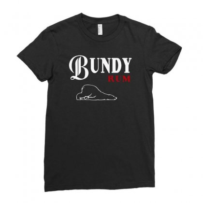 Bundy Rum Ladies Fitted T-shirt Designed By Alan