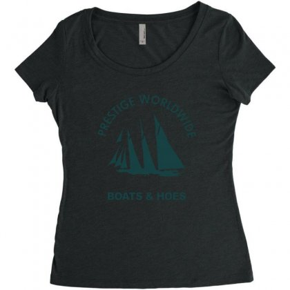 Boats N Hoes Women's Triblend Scoop T-shirt Designed By Alan
