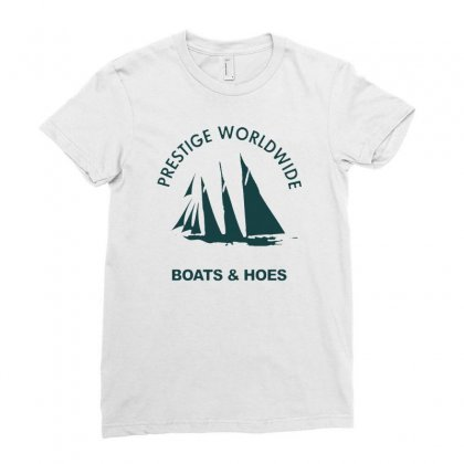 Boats N Hoes Ladies Fitted T-shirt Designed By Alan